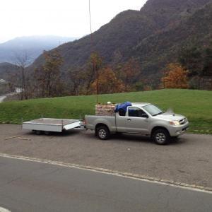 Fornitura legna con Elicottero